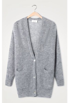 American Vintage Heather Grey Zazow Button Cardigan - One Size