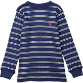 U.S. Polo Assn. Marina & Red Stripe Logo Top - Boys