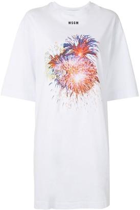 MSGM Fireworks print T-shirt dress