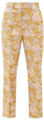 Ssone - Echo Kick-flare Brocade Trousers - Multi