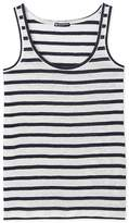 Petit Bateau Womens striped linen vest top