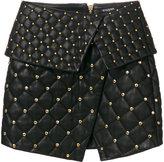 Balmain quilted asymmetric skirt