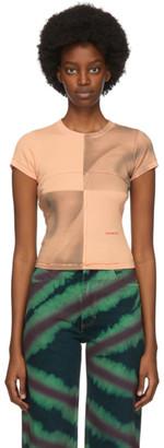 Eckhaus Latta Pink and Grey Lapped Baby T-Shirt