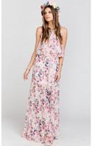MUMU Princess Ariel Ballgown Maxi Skirt ~ Green Wedding Shoes Floral