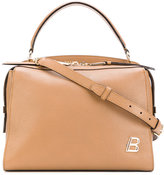 Bally logo plaque satchel - women - Leather - One Size