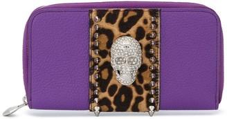 Philipp Plein Crystal Skull Continental Wallet