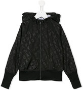 DKNY logo print hooded jacket