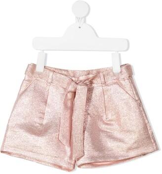 Billieblush Lurex High-Waisted Shorts