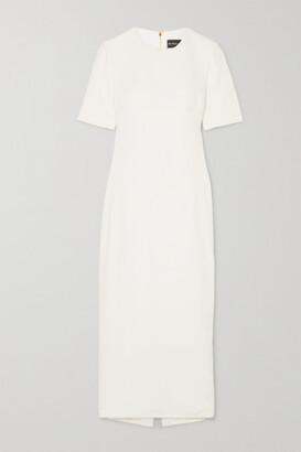 Brandon Maxwell Cutout Twill Midi Dress - Ivory