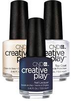 CND Creative Play Navy Brat # 435 13.5 ml Creative Play 13.5 ml Base Coat and Top Coat 13.5 ml Pack of 1 x 0.041 L