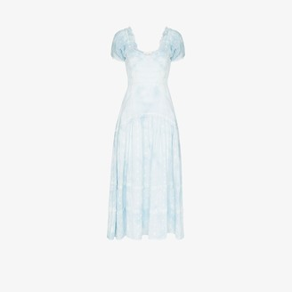 LoveShackFancy Jeanette pleated dress
