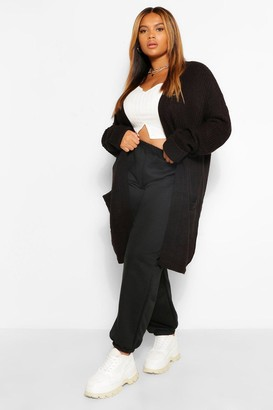boohoo Plus Chunky Oversized Cardigan