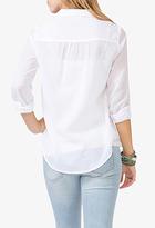 Forever 21 Round Collar Sheer Shirt