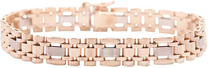 JCPenney FINE JEWELRY Mens 14K Two-Tone Gold Link Bracelet