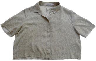 Alexander Wang Grey Silk Top for Women