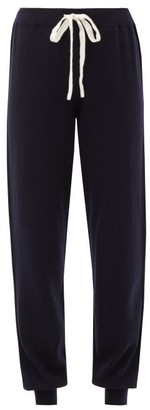 Johnstons of Elgin Johnston's Of Elgin - Lilla Side-striped Cashmere Track Pants - Womens - Navy White