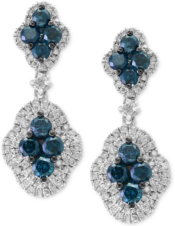 Effy Diamond Drop Earrings (1-7/8 ct. t.w.) in 14k White Gold