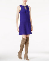 Kensie Quilted Lace-Up Dress