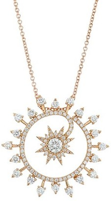 Plevé Spray 18K Yellow Gold & Diamond Starburst Medium Pendant Necklace