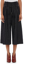 J.W.Anderson Women's Pinstriped Culotte Pants-BLACK