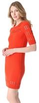 Milly Pointelle Stripe Dress
