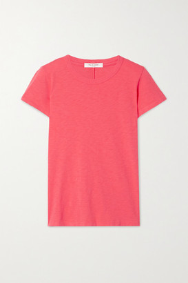 Rag & Bone The Tee Slub Pima Cotton-jersey T-shirt - Pink