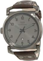 Vestal Men's OB3L004 Observer Gunmetal Oiled Dark Brown Leather Watch