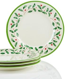Lenox Holiday Melamine Accent Plates, Set of 4
