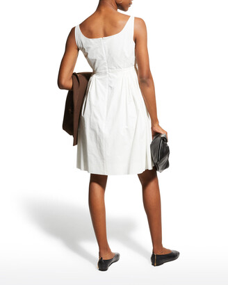 Rebecca Taylor Sleeveless Empire-Waist Cotton Dress