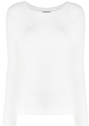 Emporio Armani Textured Long Sleeve Top