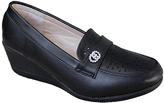 Black Rhinestone Wedge Loafer