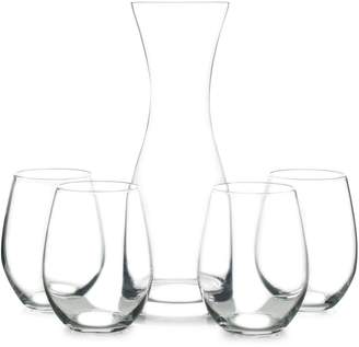 Mikasa York 5-Piece Glass Carafe Set