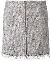 Theory zipped tweed skirt - women - Cotton/Acrylic/Polyester/Rayon - 0