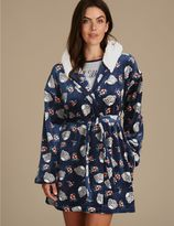 Marks and Spencer Printed Fleece Dressing Gown