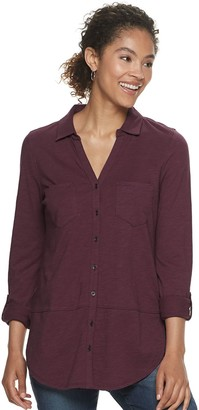 Sonoma Goods For Life Women's Utility Tunic Shirt