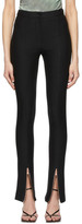 Andersson Bell Black Flared Zipper Trousers