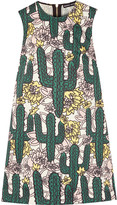 Markus Lupfer Cory printed cotton and linen-blend mini dress