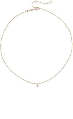 Zoë Chicco 14k Gold One Diamond Chain Choker Necklace