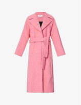Thumbnail for your product : VVB Belted brushed wool-blend coat