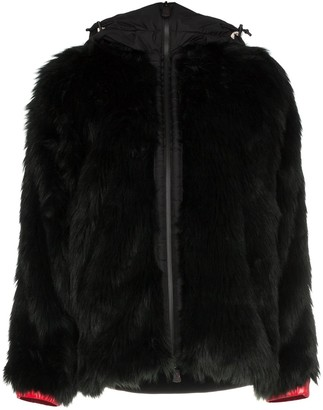 MONCLER GRENOBLE Faux Fur Hooded Jacket