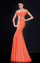 Tarik Ediz Lace Off-Shoulder Gown 92568