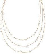 Michael Kors Crystal Bezel Layer Necklace