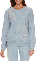 Alfred Dunner Northern Lights Long Sleeve Sweatshirt