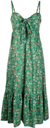 L'Autre Chose Floral Print Midi Dress