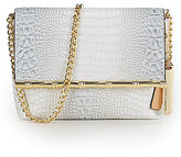 Kate Landry Crocodile-Embossed Cross-Body Bag