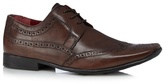 Red Tape Brown Leather Square Toe Brogues