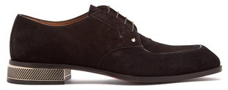 Christian Louboutin Thomaso Suede Derby Shoes - Mens - Black