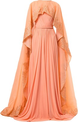 Saiid Kobeisy Draped Flared Maxi Dress