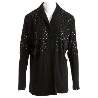Preen Black Suede Jacket for Women