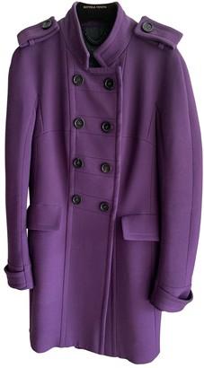 Burberry Purple Wool Coats